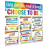 Sproutbrite Classroom Banner Decorations and Poster Bulletin Board Set - Choose to be