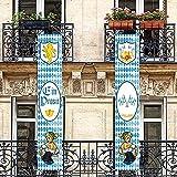 Bayerisches Bierfest Banner Bierfest Dekorationen Bayerisches Löwenkamm Fahnen Willkommen Veranda Zeichen für Deutsche Thema Party Hängende Dekoration