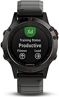 Garmin fenix 5 Sapphire, Multisport GPS Watch for Fitness, Adventure and Style, Health Monitoring, Sensors, Training Plann...