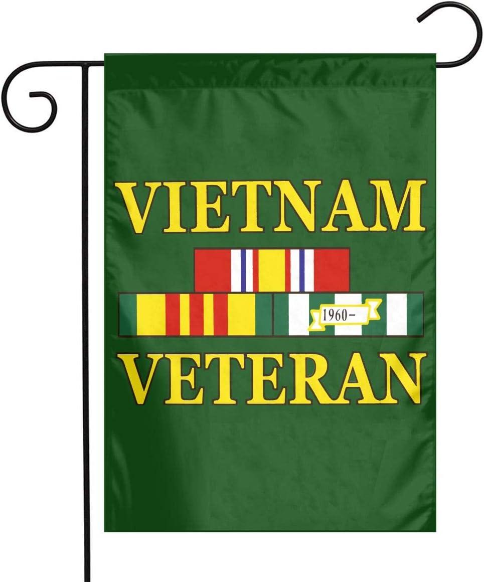 Amazon Com Hu7 Jdos7 Vietnam Veteran Garden Flag House Banner For Party Yard Home Outdoor Decor Garden Outdoor