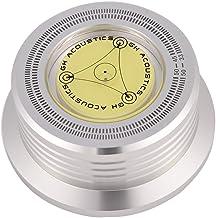 Platos giratorios vinilo LP Estabilizador disco metal Grabación peso / abrazadera Placa giratoria alta fidelidad Abrazadera aleación aluminio para LP Reproductor discos vini(Plata)