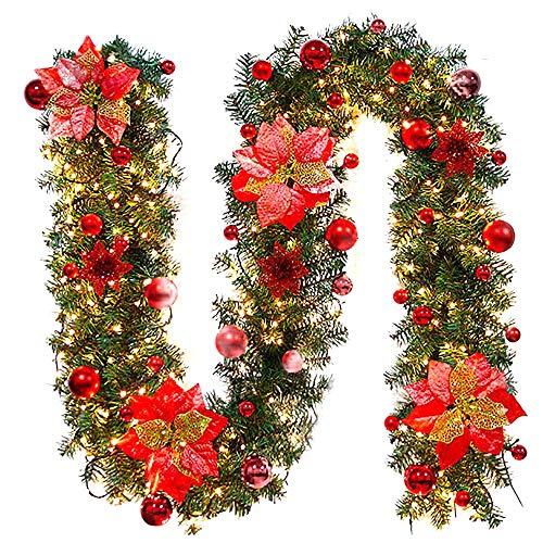 Ghirlanda Natalizia con luci , Mambian Decorativa Chic Bello Corona Di Natale Decorazioni Di Natale...