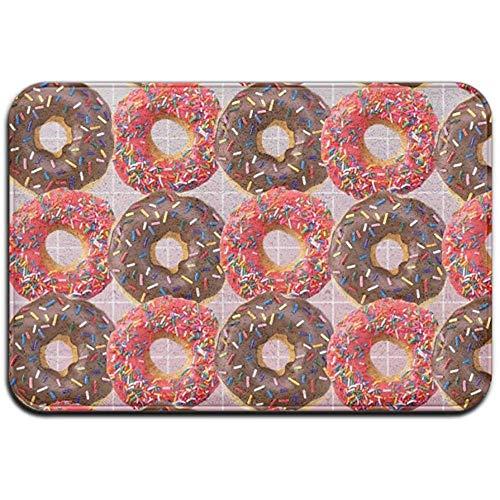 Joe-shop tapijt anti-slip vlek Fade resistente deurmat kersen en chocolade donut buiten binnen mat kamer tapijt