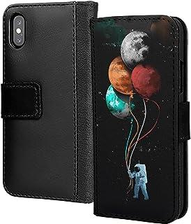 Abstrakt konst astronaught baloon rymd galax PU-läder plånbok i kort telefon fodral skydd för Huawei P30 Lite