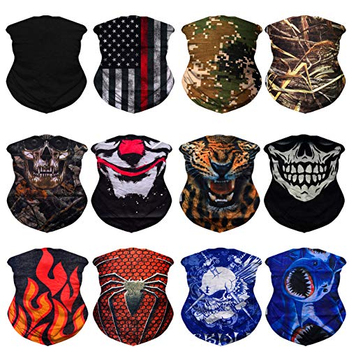 Asorted Neck Gaiter Face Mask Scarf Bandana Headwear Multi-Purpose Headband for Hunting Running Fishing Hiking Motorcycling