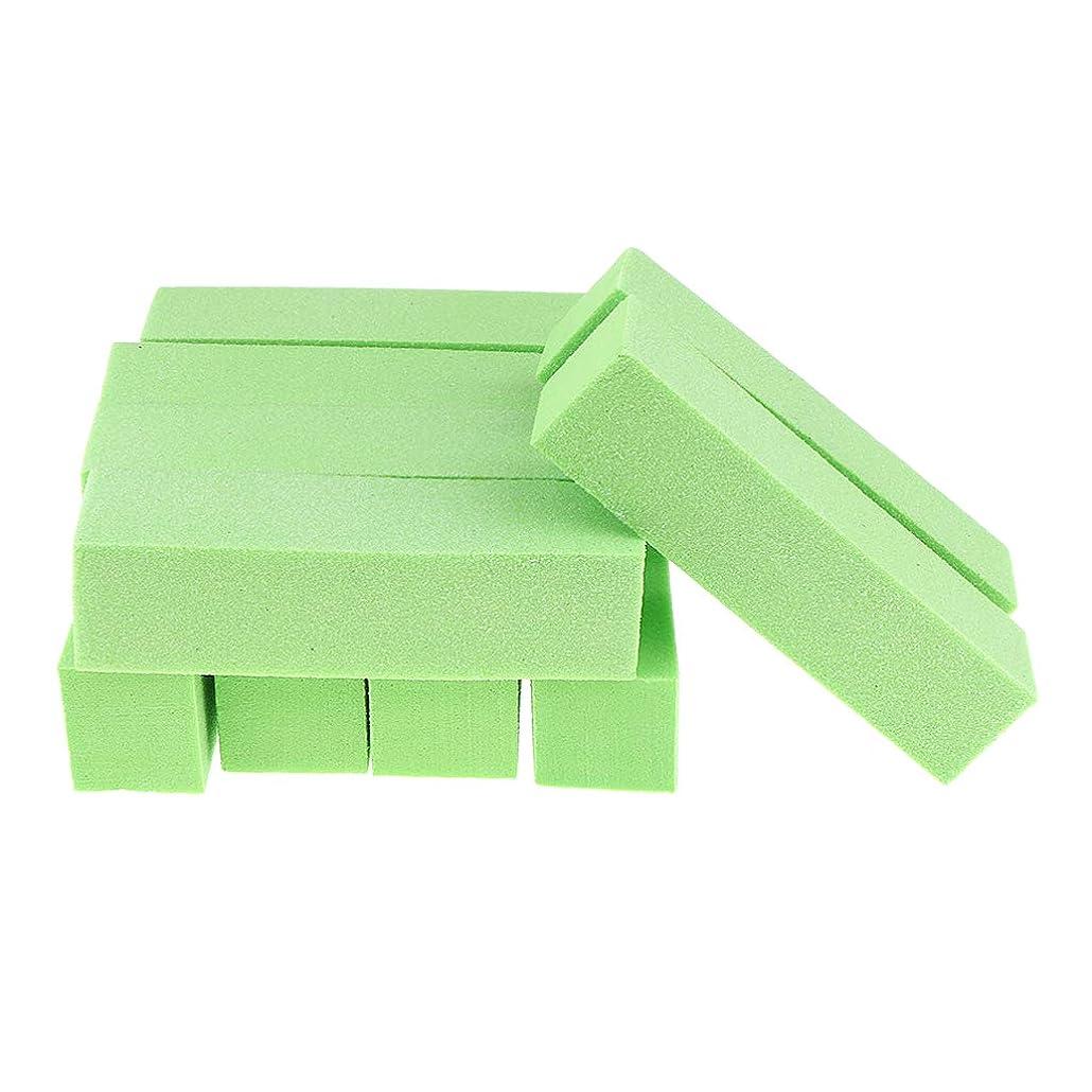 くしゃみ脳穀物B Blesiya 10個 ネイルファイル ネイル道具 全5色 - 緑