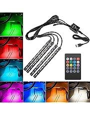 車テープライト,LEDテープライト RGB テープライト USB式 高輝度 高品質 フットランプ 足下照明 音に反応 多種フラッシュモードリ リモコン付き
