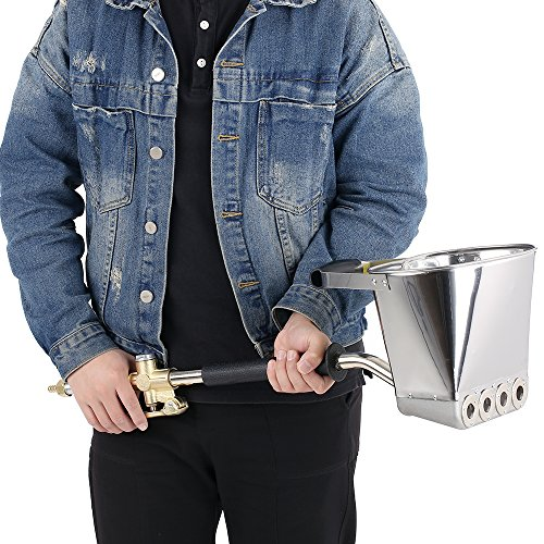 KKmoon Ciment Mortier Pistolet À Pulvérisation Trémie Pistolet, 4 Jet Hopper Plâtre Béton Ciment Pulvérisateur Stuck Pulvérisateur, pour DIY Murs et Plafonds