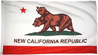 DANF FLAG New California Republic Flag Banner 3ftx5ft Polyester with Brass Grommets