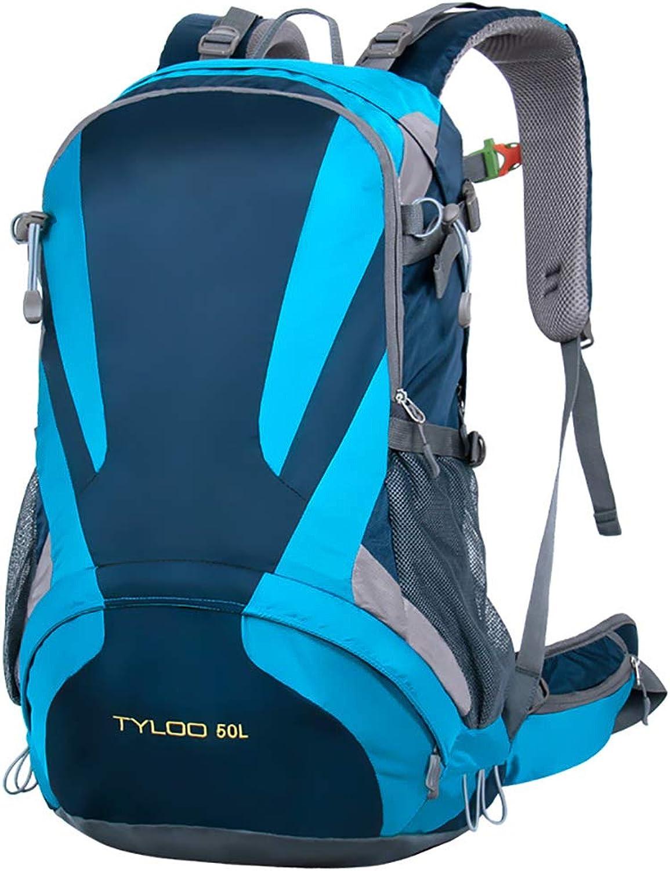 KAKA 50L Outdoor Wandern Sport Laptopfach Laptopfach Laptopfach Wasserdichter Nylonrucksack (Blau) B07Q5SSQPN  Direktgeschäft 4efd93