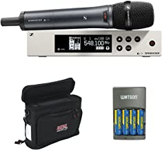 Sennheiser ew 100-845 G4-S Wireless Handheld Microphone System G: (566 to 608 MHz) with GM-1W Wireless Mobile Pack & 4-Hour Rapid Charger (4 Rechargeable Batteries)