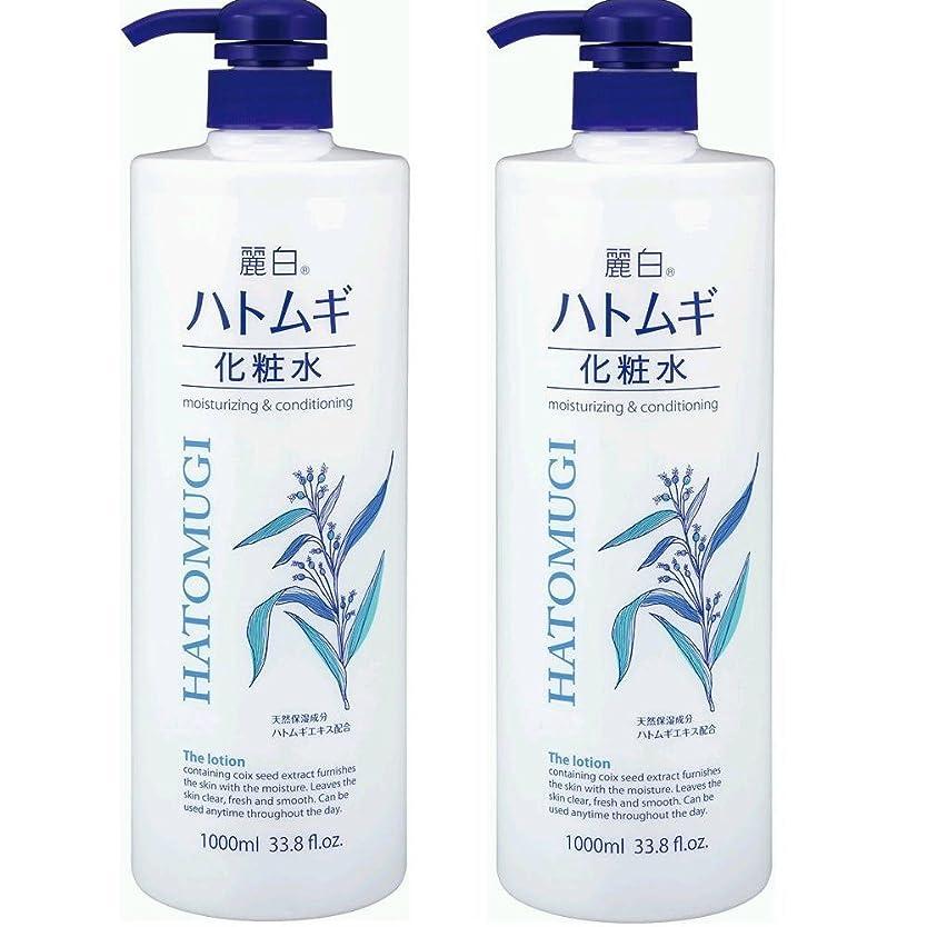 キャメル宣伝メニュー麗白 ハトムギ化粧水 本体 大容量サイズ 1000ml 2本セット