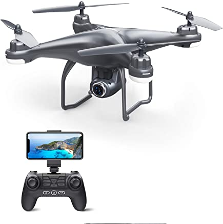 $139 Get Potensic T25 GPS FPV RC Drone with 720P HD Camera Live Video 120° Wide-Angle, Auto Return Home, Quadcopter with Follow Me, Altitude Hold, Long Control Range and Modular Battery, Gray
