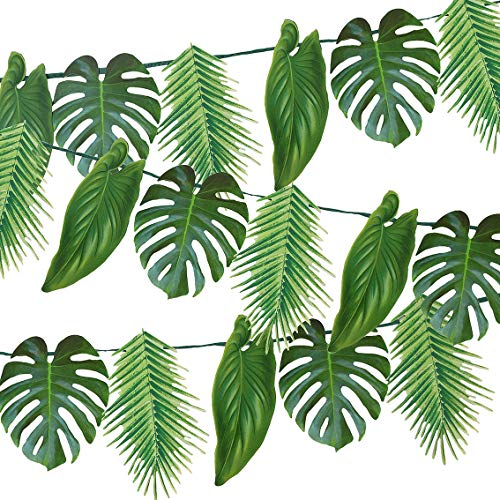 Talking Tables 1.5m Decorations-Reusable and Durable-Ideal for a Garden or BBQ Jungle, Hawaiian or Luau Themed Party, Paper, Tropical Palm Garland 1.5, Length, 5ft