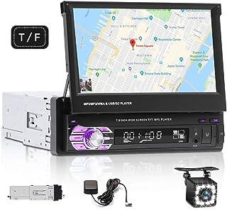 Single Din Car Stereo System - 7 Inch HD Car Radio GPS Digital MP5 Player Support Bluetooth Mirror Link/FM/USB/SD/Hands-Fr... photo
