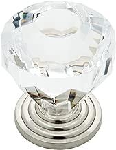 Crystal Clear Acrylic Drawer Knob Cabinet Hardware, Cabinet Knobs, 1-7/16 in., Crystal Clear Glass, 1 piece