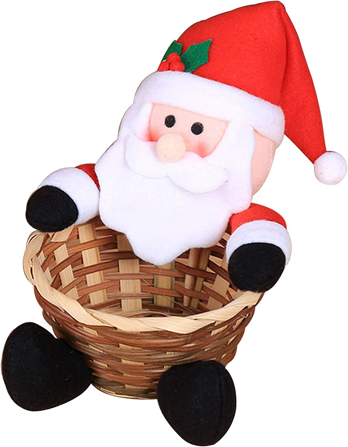 Cash Manufacturer regenerated product special price WMTFCBE Christmas Candy Storage Bamboo Basket Baskets