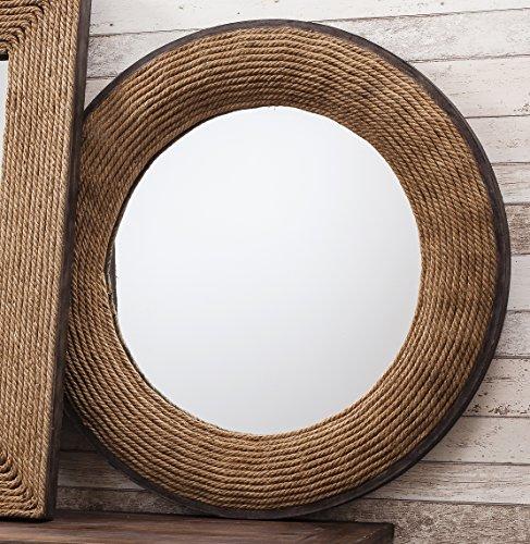 Barcelona Trading Driffield Cuerda Redonda (tamaño Grande), diseño de Ojo de Buey náutico función Espejo de Pared 36cm de diámetro