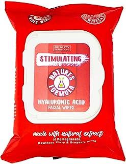 مناديل مبللة للوجه محفزة بحمض الهيالورونيك من بيوتي فورميولاز، 30 منديل مبلل، 60 غرام