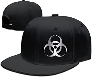 Resident Evil Biohazard Sym Platinum Logo Baseball Snapback Hat Black