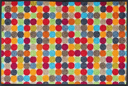 Wash+Dry 060826 Fußmatte Mikado Dots, 50 x 75 cm, Innen, waschbar, Bunt