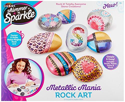 Cra Z Art 17696 Shimmer & Sparkle Metallic Madness Rock Art Crafts Kits