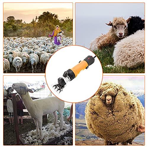 Elektriker Schafschere Sheep Clipper 690W 220V Schafschermaschine 2800rpm Sheep Shearing Machine Einstellbare Geschwindigkeit Ziegenschere für die meisten Schafe (Orange)