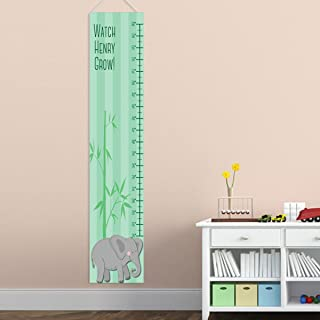 Personalized Elephant Growth Chart for Boys