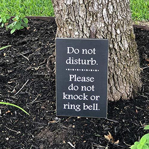 SIGNS hout opknoping grappig geen solicit grappig geen vragen deurbel grappig niet storen ingang grappig niet Ring bel aangepaste welkom grappig geen kloppen