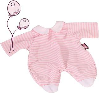 Götz 3402499 Puppenkleidung für Babypuppen, Design pink stripes, Puppenkleidung passend für Puppengrößen 30 - 33 cm