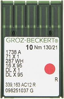 Groz Beckert cuir point industrielle machine à coudre aiguilles 134LR Taille 18//110