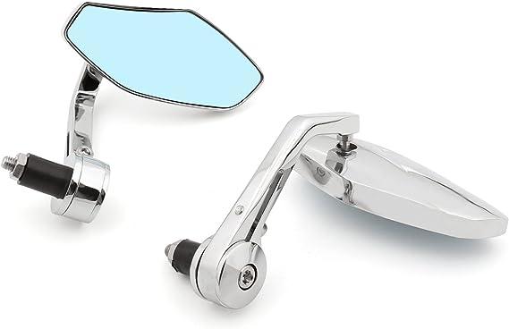 Artudatech Universal Lenkerendenspiegel Motorrad Moto Mit 25mm 1 Zoll Faltbar Lenker Endseite Lenkerspiegel Rückspiegel Motorrad Außenspiegel Seitenspiegel Für Yamaha Suzu Ki Hon Da Auto