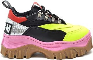 MSGM Women's MCBI38166 Multicolor Leather Sneakers
