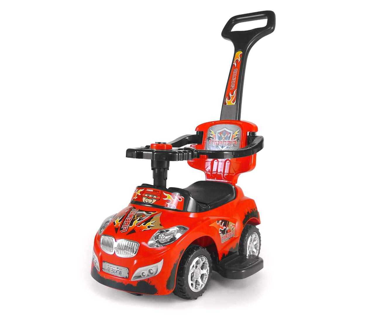 Milly Mally 3-in-1 Genuine Online limited product Free Shipping Happy Car On Red Ride