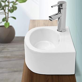 Keramik Design Waschbecken Waschtisch Aufsatzwaschtisch Waschschale 590 x 390 mm