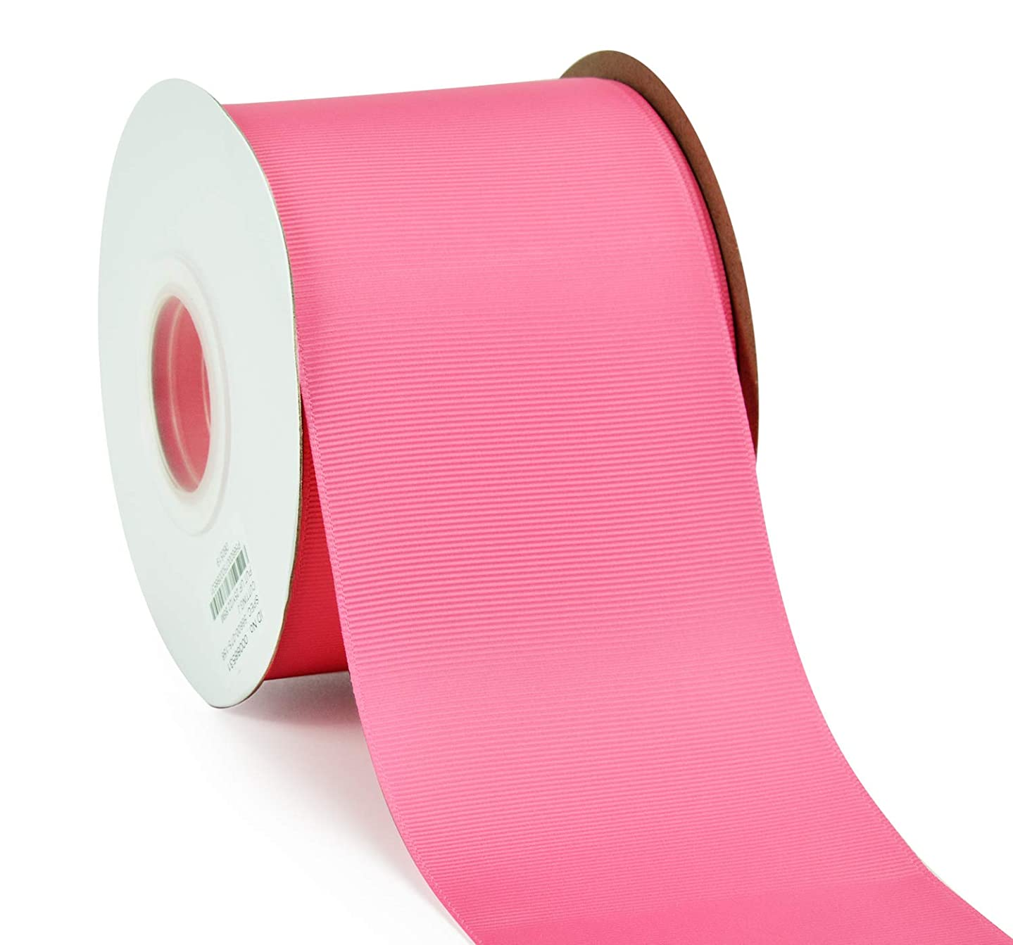 YAMA 3 inch Solid Grosgrain Ribbon Roll - 25 Yards (3 Inch 25yds, Hot Pink)