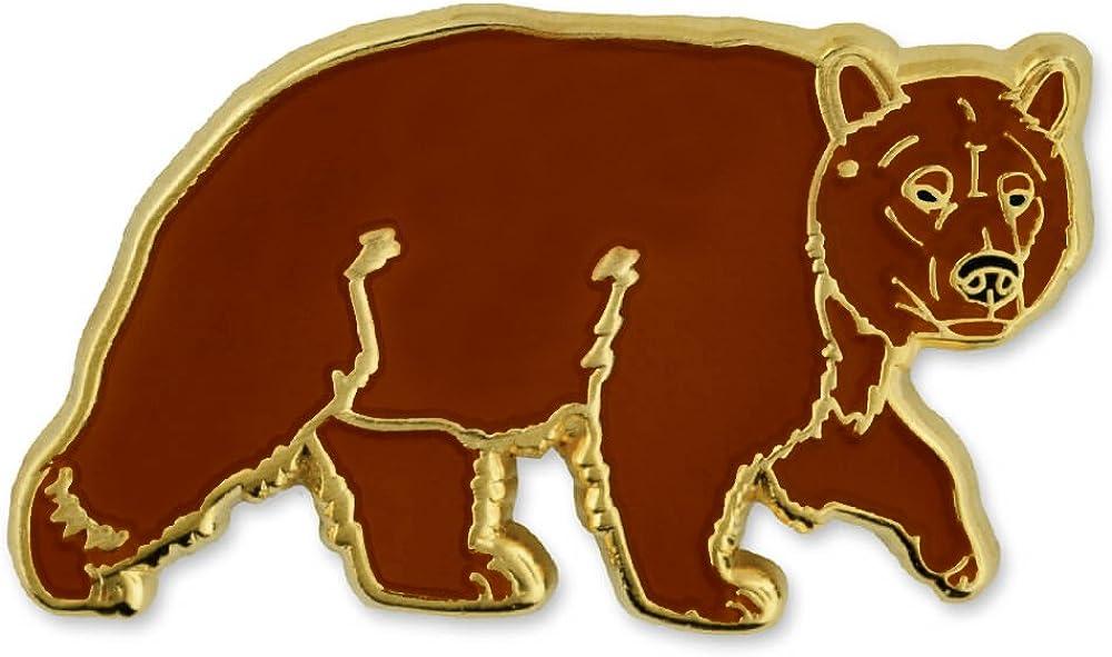 PinMart Brown Grizzly Bear Wild Animal Enamel Lapel Pin