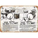 日本のドラムセットティンサイン壁鉄絵レトロプラークヴィンテージ金属シート装飾ポスターおかしいポスターぶら下げ工芸品バーガレージカフェホーム