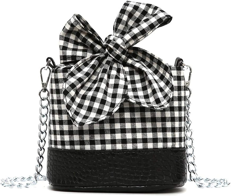 WM BAG Damenhandtasche Messenger Bag Canvas Bag Kette Umhängetasche Messenger Bucket Bag B07KLTF74R