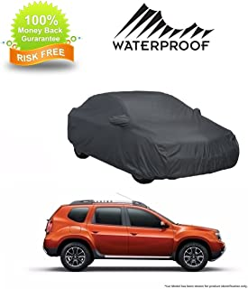 MotRoX 100% Waterproof Car Body Cover for Renault Duster (American Dark Grey-with Mirror Pocket and Piping)