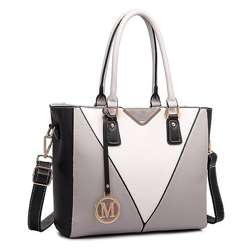 Miss Lulu Leather Look V-Shape Shoulder Handbag de96798d43