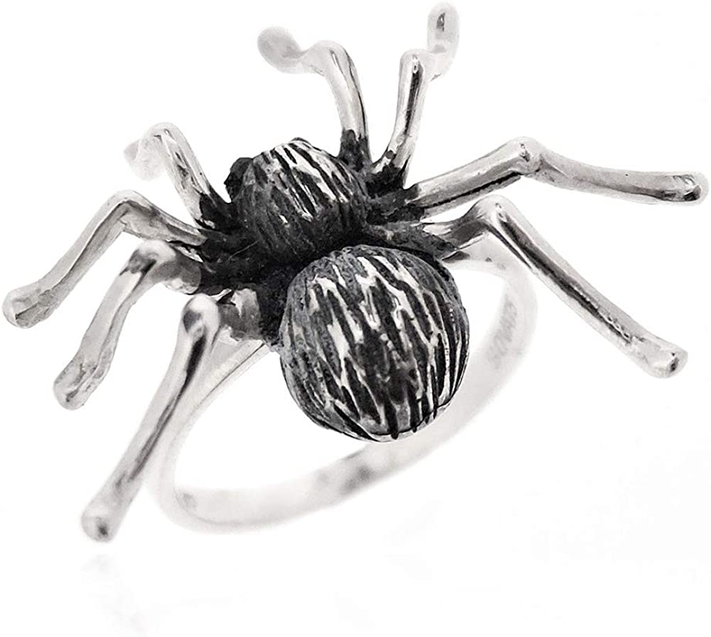 SOVATS Spider Ring for Women Sterling Sale 925 2021 new Surfac Silver Oxidized