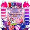 Laevo Unicorn Slime Kit for Girls - Slime DIY Supplies Slime Kits - Slime Making Kit Cloud Slime Kit for Boys - DIY Slime Kit with Instant Snow, Clear Glue, Foam Balls, Slime Glue 1
