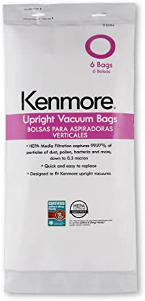 Kenmore 53294 Style O HEPA Cloth Vacuum Bags for Kenmore Upright Vacuum Cleaners 6 Pack