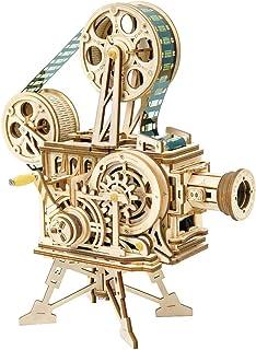 ROKR 3D立体パズル 木製パズル DIYモデル クラフト 大人向け フィルム付き 知育玩具 男の子 女の子 大人 新年 ギフト 誕生日 クリスマス プレゼント 贈り物(プロジェクター 映写機)