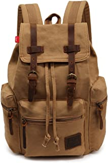 YuHan Canvas ryggsäck unisex vintage vardaglig ryggsäck laptop dagväska MacBook väska skolväska student bokväska skolväska...