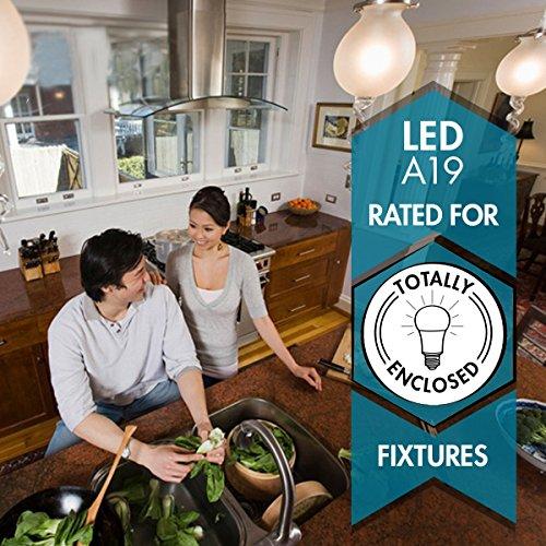 TCP 9W LED Light Bulbs, A19 - E26, Medium Screw Base, Non-Dimmable, ENERGY STAR Certified, Soft White (2700K) (Pack 6)