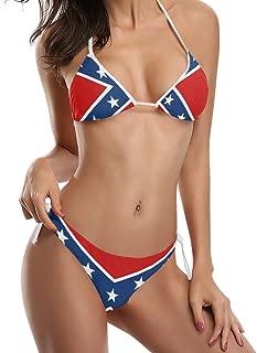 Don't Tread Me USA Black Flag Bikini Swimsuit Beachwear Bathing Suit for Women Girl