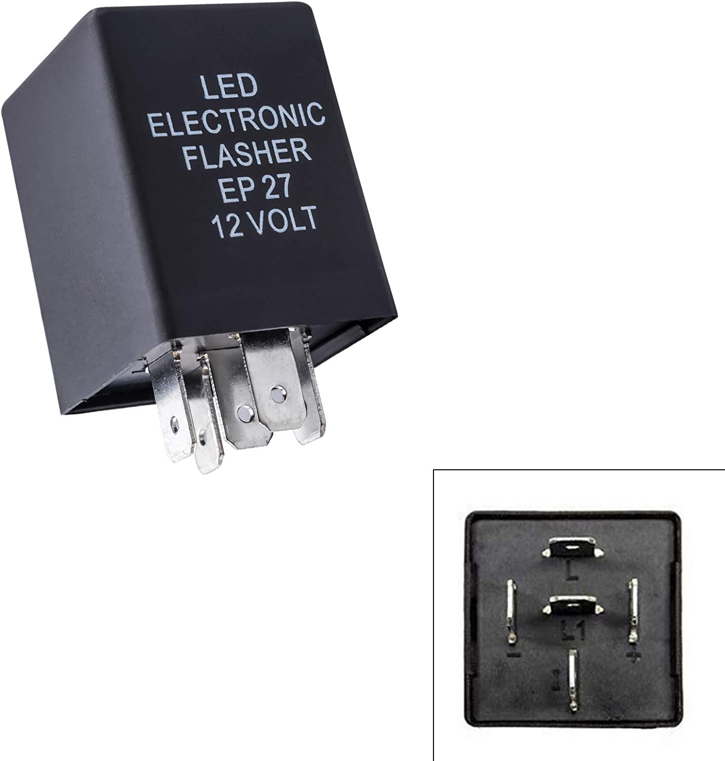 Xotic Tech 1pc 12V 5 ☆ popular 5-Pin SPDT L LED Relay Max 76% OFF Automotive Flasher for