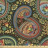 Lunarable Paisley-Stoff von The Yard, lebendige farbige